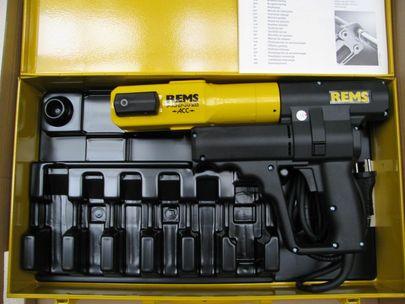 REMS Pressmaschine Power Press ACC Nr 577010 im Stahlblechkoffer Sanitär Heizung – Bild