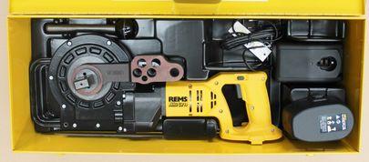 REMS Akku Curvo Li-Ion Nr. 580012 Biegemaschine Rohre biegen Sanitär Heizung – Bild