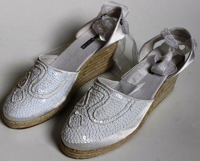 Buffalo Damenschuhe mit Pailletten Perlen Glitzer Elegant Schuh Dame Damen Gr 38 – Bild