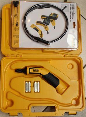 REMS CamScope Wifi 175140 Kamera Endoskop Rohrreinigung Kanal Cam Scope + Koffer – Bild