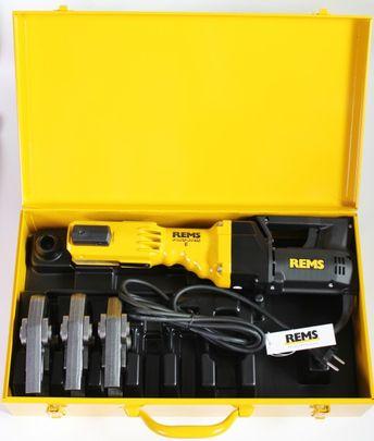 REMS Pressmaschine Power Press E SE + 3 Presszangen Pressbacken M oder V Koffer – Bild