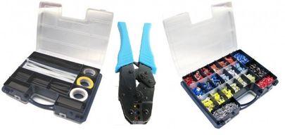 Crimpzange -6 qmm + Elektriker-Sortiment Elektro Aderendhülsen Kabelschuhe usw. – Bild