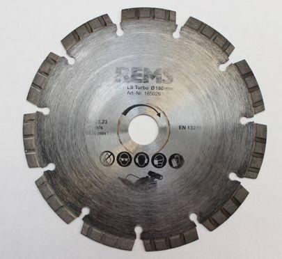 REMS Universal Diamant Trennscheibe LS Turbo 180 N 185026 Krokodil Mauernutfräse – Bild