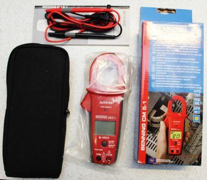BENNING Digital Stromzangen Multimeter CM 5-1 Stromzange Messgerät Elektriker – Bild