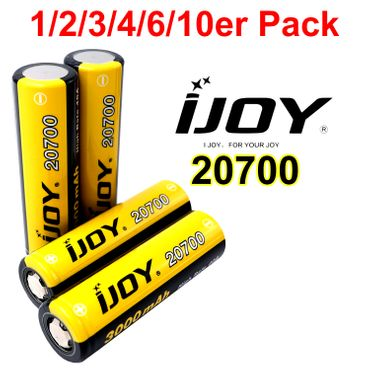 iJoy 20700 Akku 3000 mAh 40A 3,7V Hochleistungsakku Flat Top