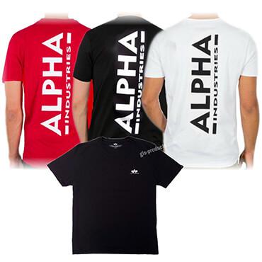 Alpha Industries Backprint T 128507 schwarz weiss rot