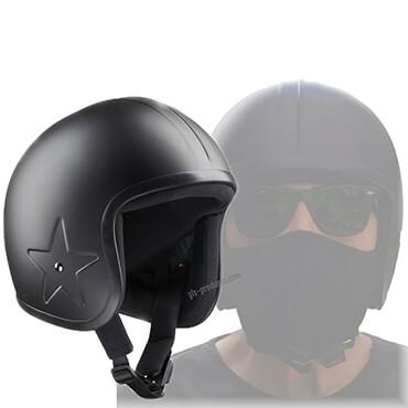 Bandit Helmets Open Face Helmet Sky 3 Fiberglas dull black