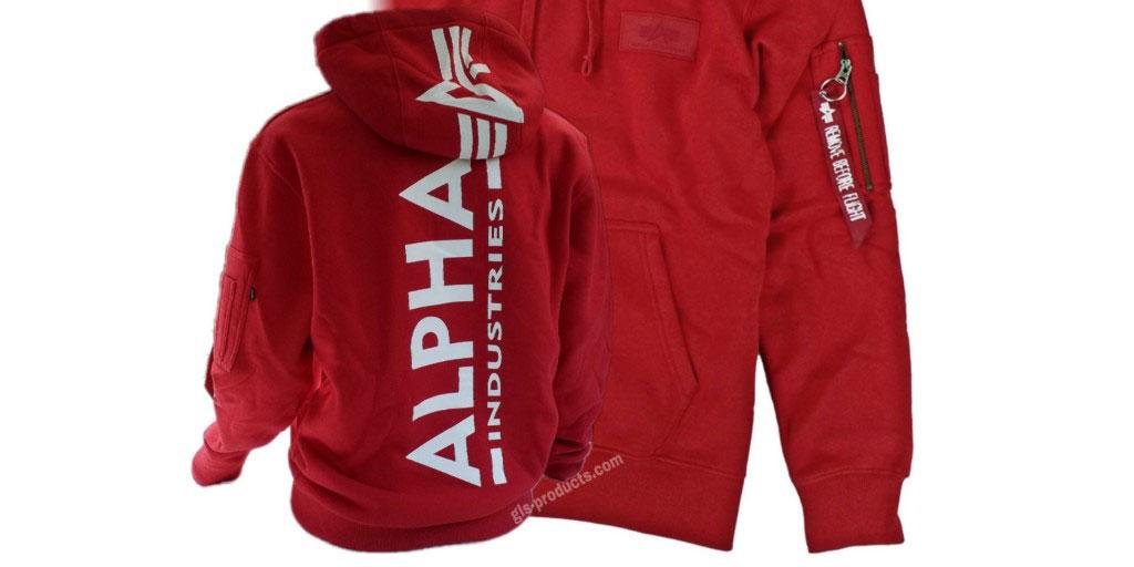 Alpha Industries Back Print Hoody 178318