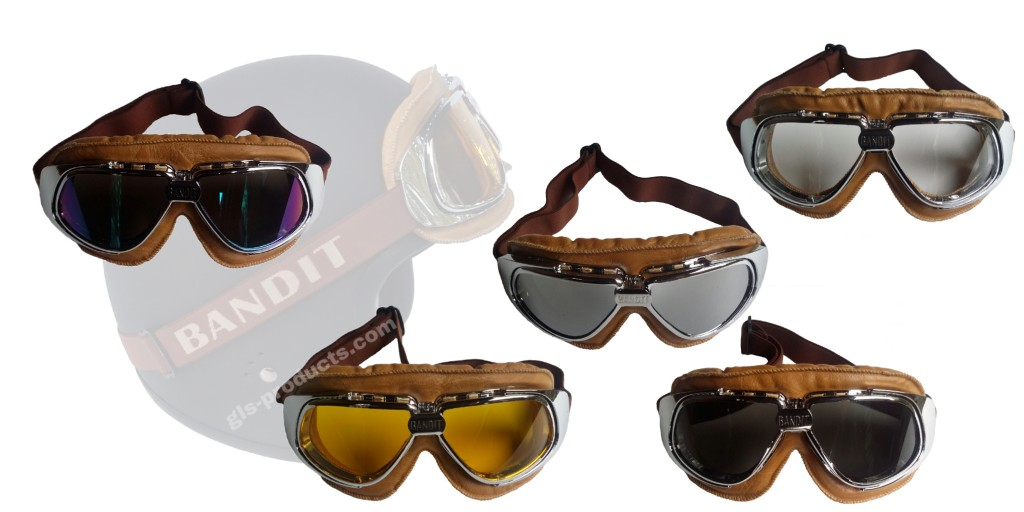 Bandit Motorradbrille Goggles braun