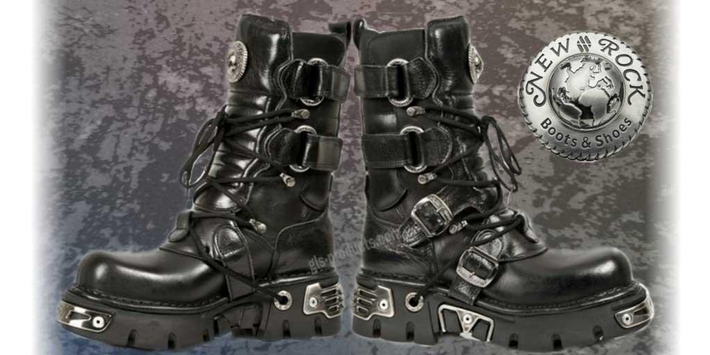New Rock Boots 575 mit klappbarem Schaft