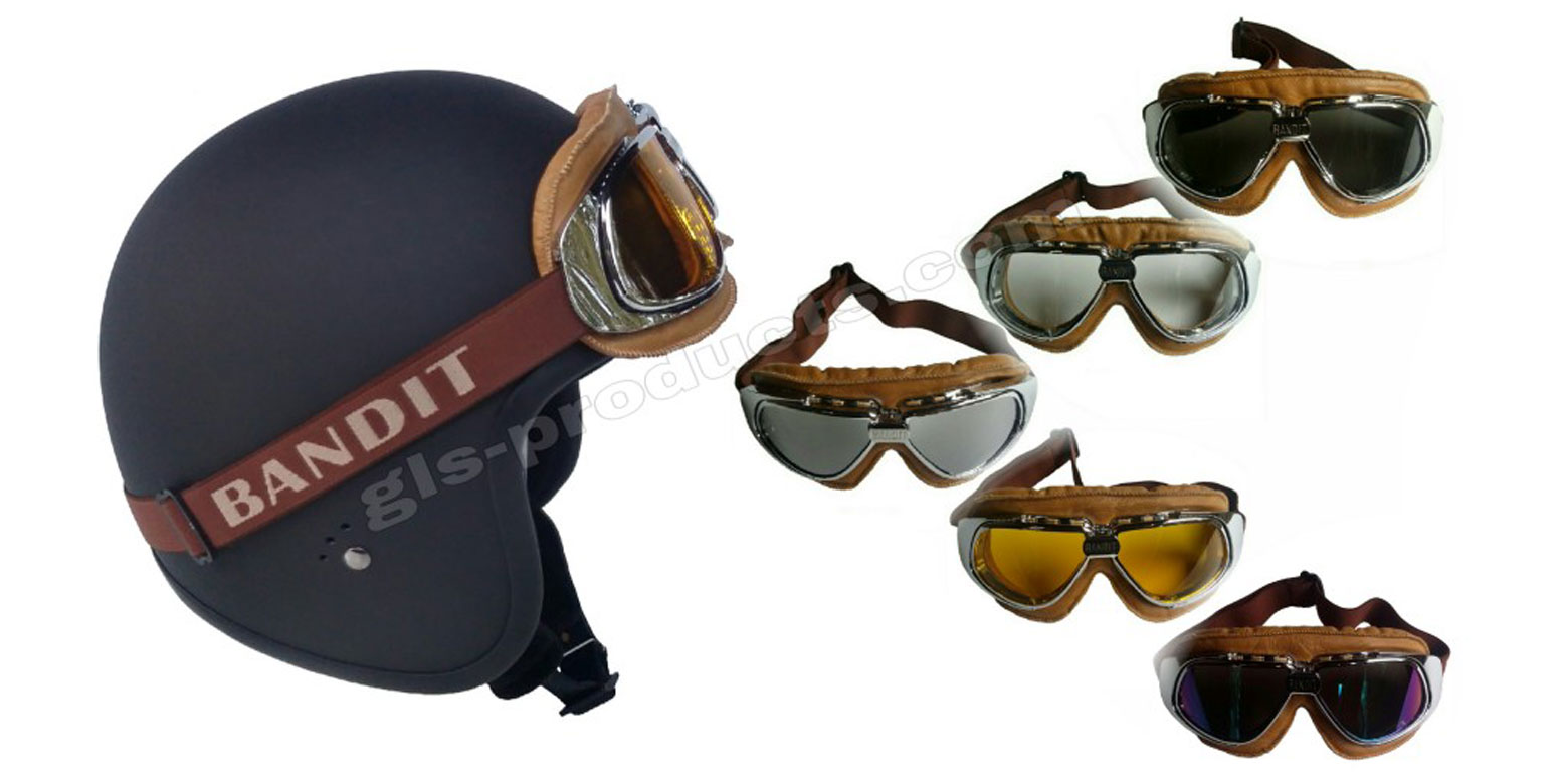 Bandit Motorcycle Glasses Goggles brown