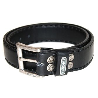 Sendra Handsewn full padded Leather Belt without decoration – Picture 1