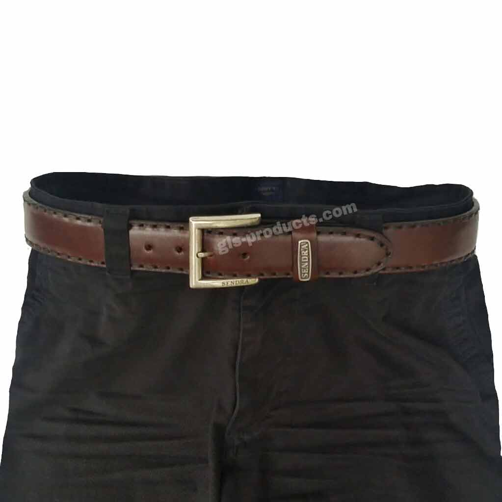 Sendra Handsewn full padded Leather Belt without decoration – Picture 4