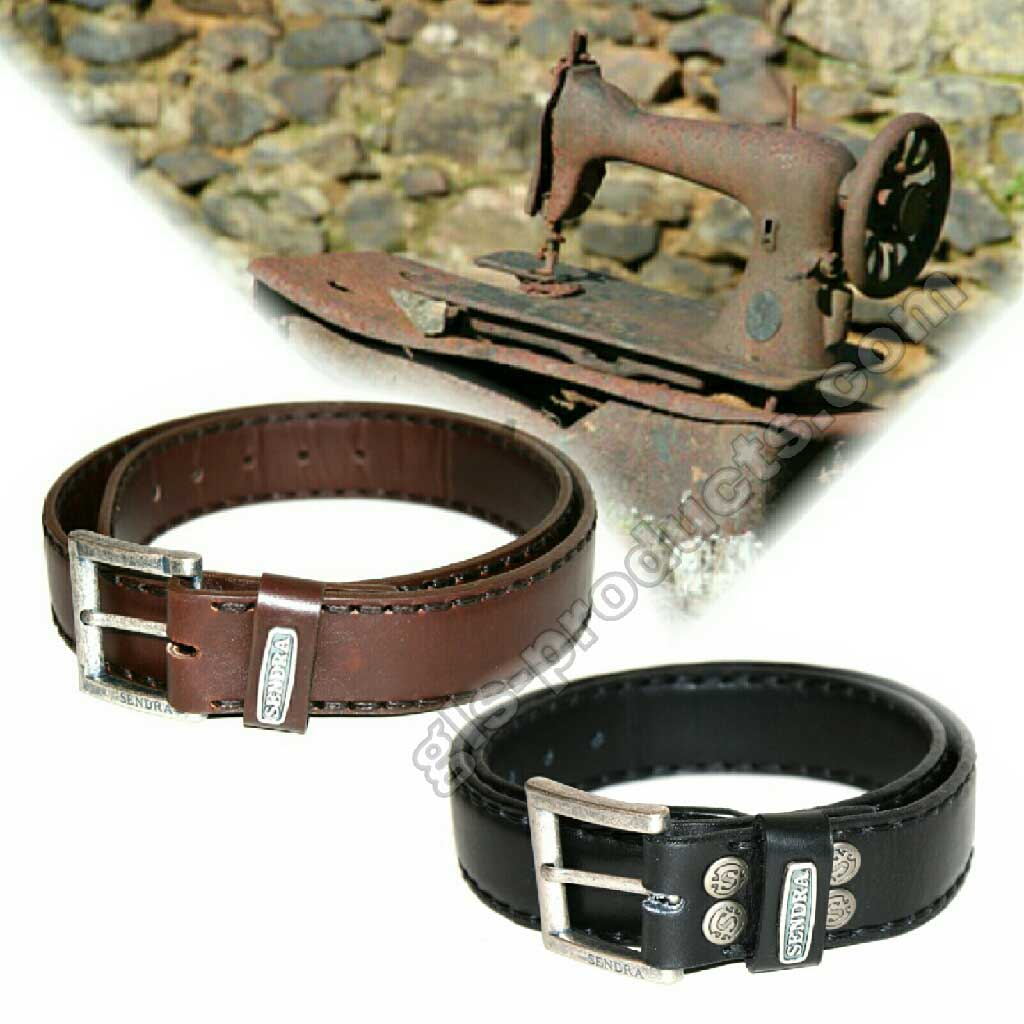 Sendra Handsewn full padded Leather Belt without decoration – Picture 3