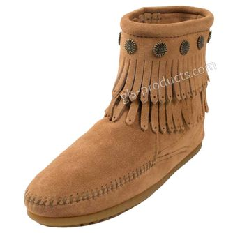 Minnetonka Double Fringe Side Zip Boot – Picture 5
