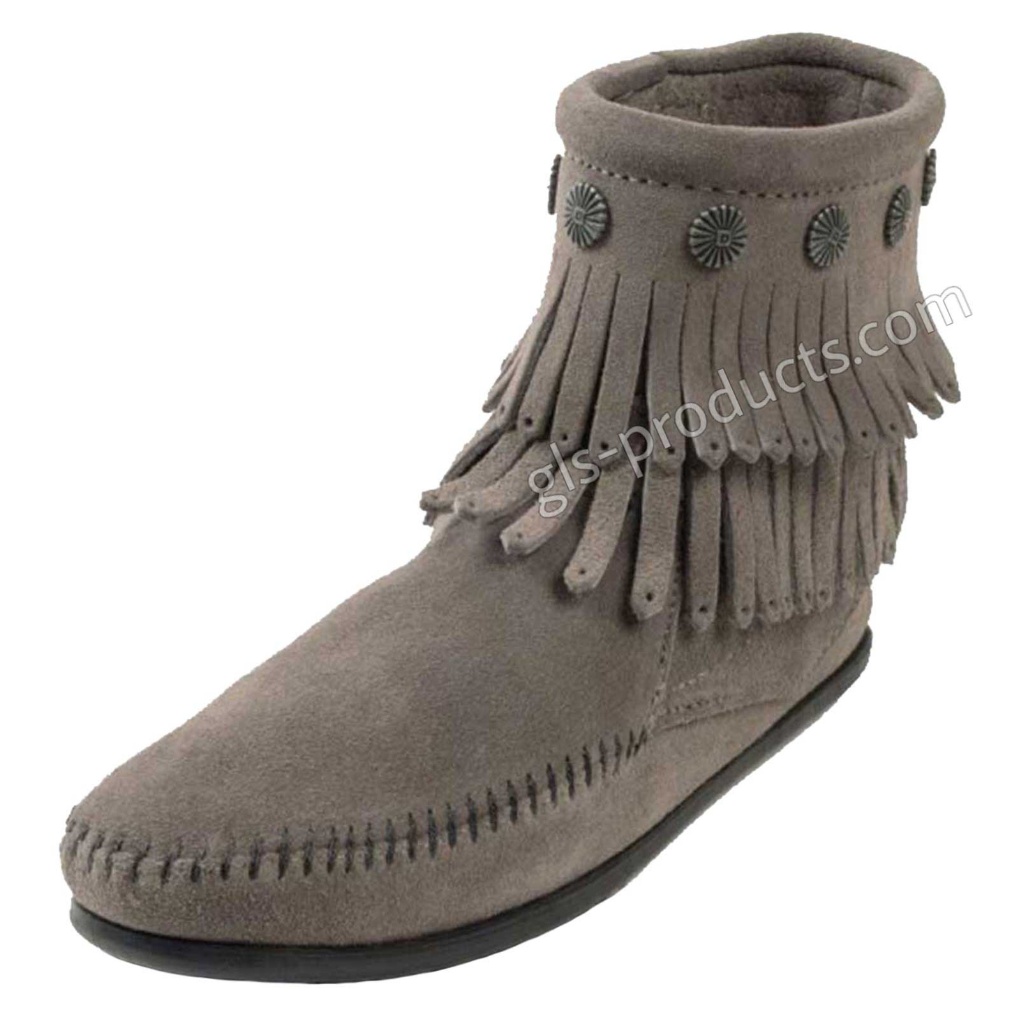 Minnetonka Double Fringe Side Zip Boot – Picture 2