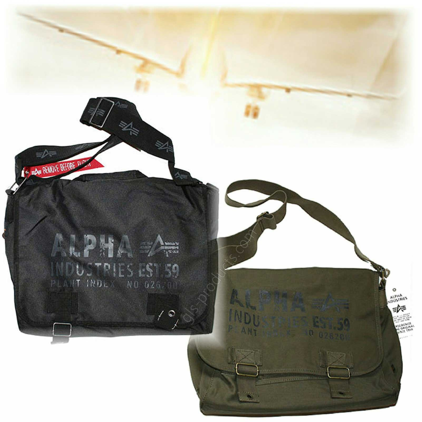 Alpha Industries Cargo Courier Bag 101911 101916