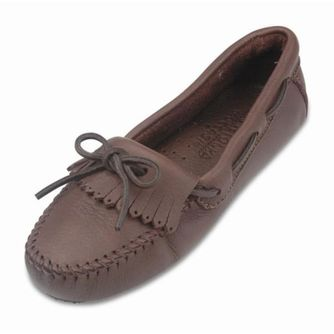 Minnetonka Women's Moosehide Driving Mocs – Picture 1