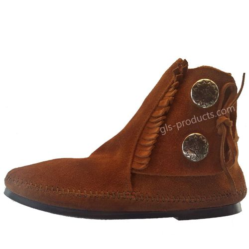 Minnetonka Damen Moccasin Two Button – Bild 2