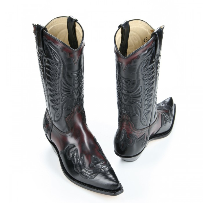 Mezcalero 5034 Wine Western Boots – Picture 2