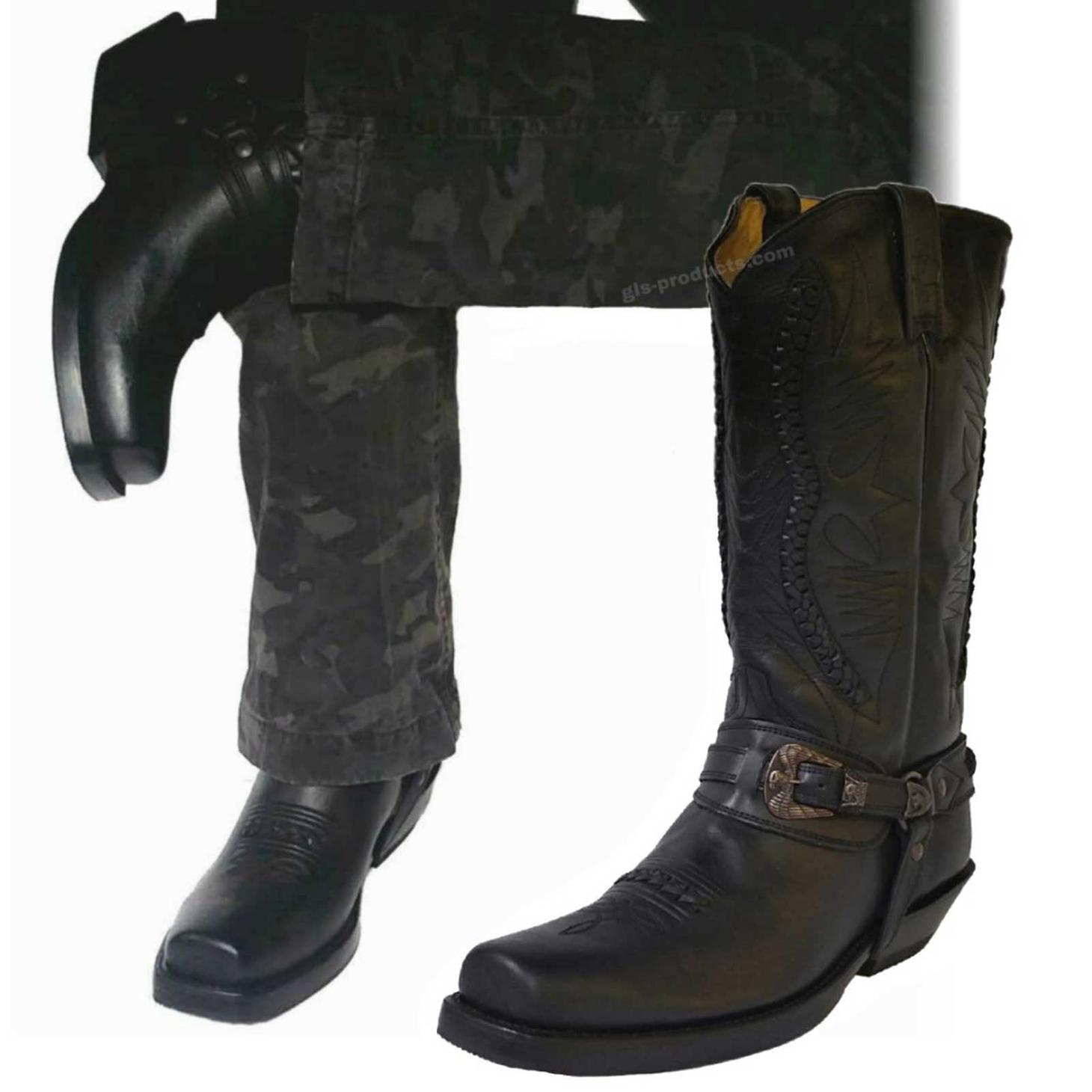 Boots Boots Mezcalerorancho Mezcalerorancho Black 9064 Biker Biker ywmN0v8nO