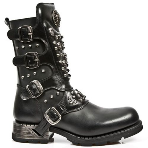 New Rock Engineer Boots MR019 with studs and Skulls – Picture 1