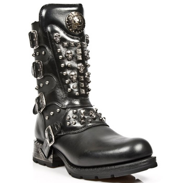 New Rock Engineer Boots MR019 with studs and Skulls – Picture 4