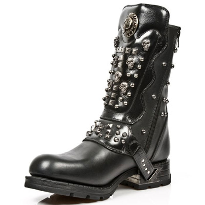 New Rock Engineer Boots MR019 with studs and Skulls – Picture 6