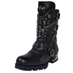 New Rock Engineer Boots MR019 mit Nieten und Skulls – Bild 2