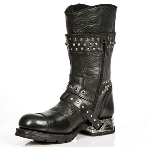 New Rock Engineer Boots MR022 with studs and zippers – Picture 2