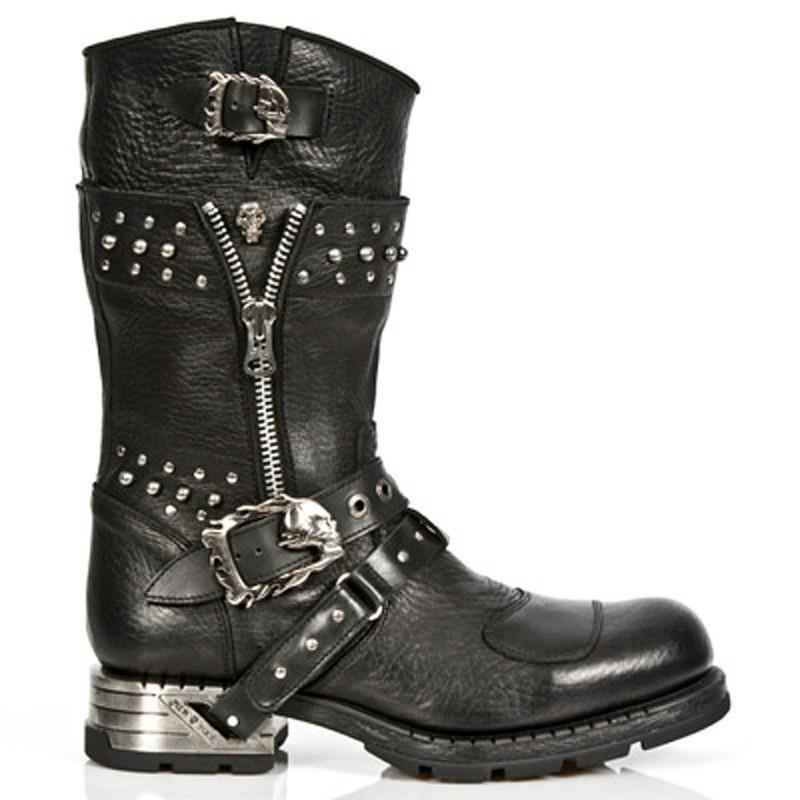 New Rock Engineer Boots MR022 mit Nietenverzierung
