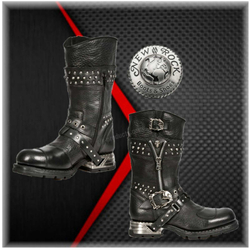 New Rock Engineer Boots MR022 with studs and zippers 001
