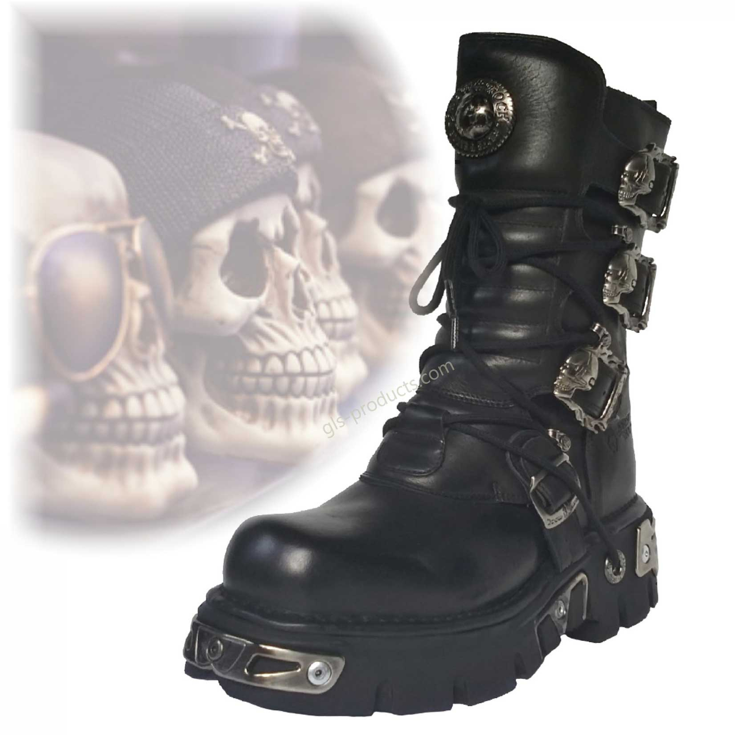 New Rock Boots 391, Skulls – Picture 1