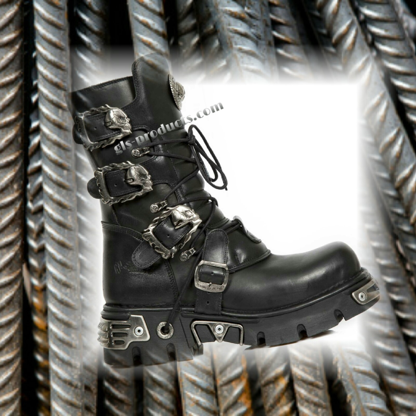 New Rock Boots 391, Skulls – Picture 12