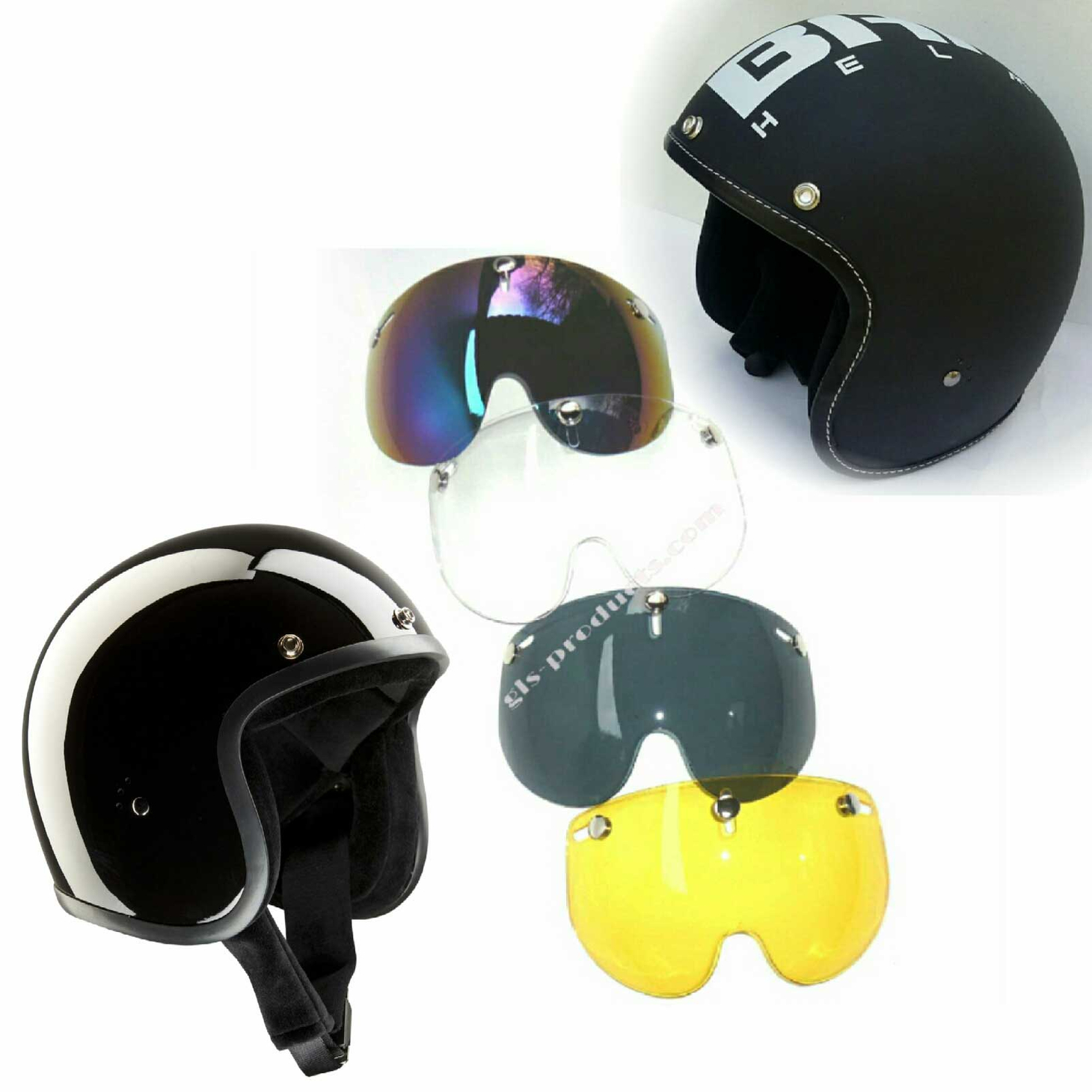 Bandit Shorty Visor - Short Visor For Jet Helmets – Picture 10
