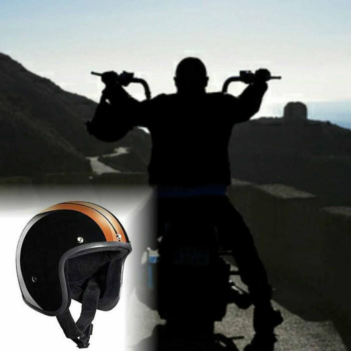 Bandit Race Jet Helmet - Classic Motorcycle Helmet – Picture 8