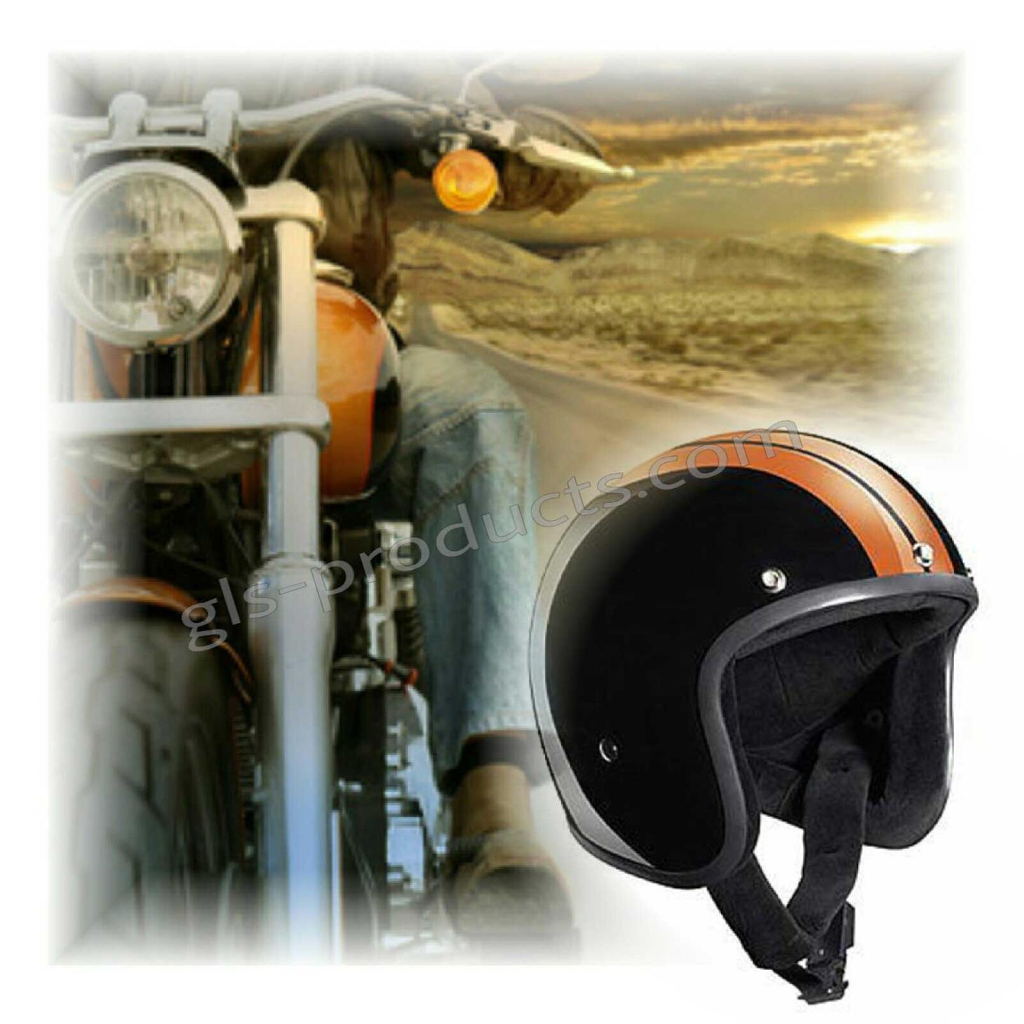 Bandit Race Jet Helmet - Classic Motorcycle Helmet – Picture 9