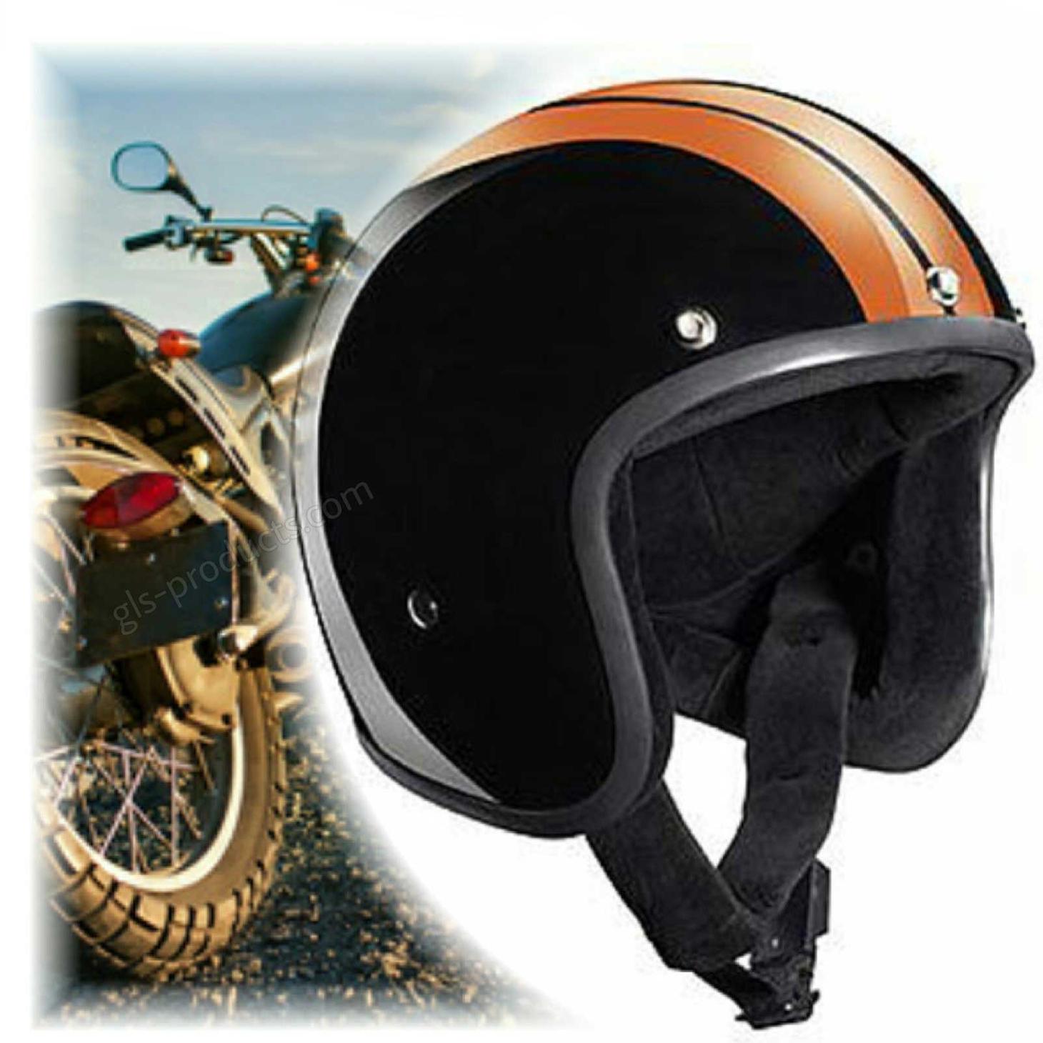 Bandit Race Jet Helmet - Classic Motorcycle Helmet