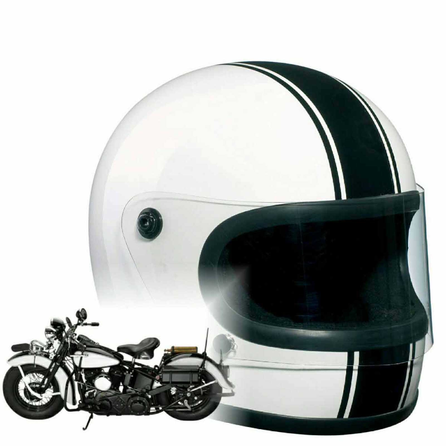 Bandit - Integral - New Original Motorcycle Helmet - Full Face - Fibreglass Shell