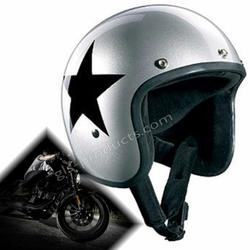 Bandit Motorradhelm Star Silver Jethelm 001