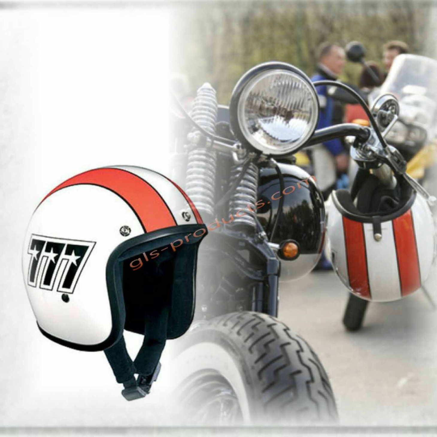 Bandit 777 Original Jet Helmet - Motorcycle Helmet In Classic Design – Picture 8