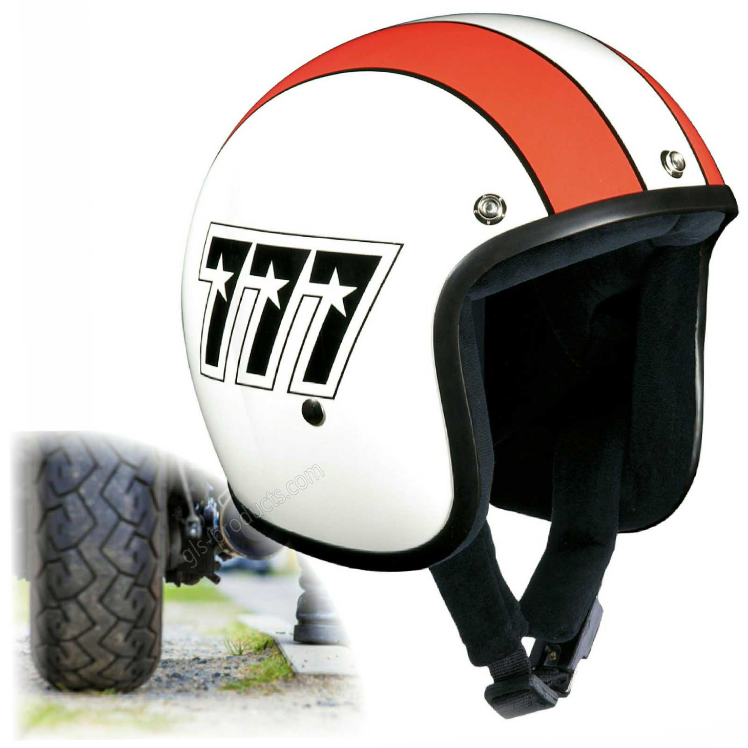 Bandit 777 Original Jet Helmet - Motorcycle Helmet In Classic Design – Picture 1