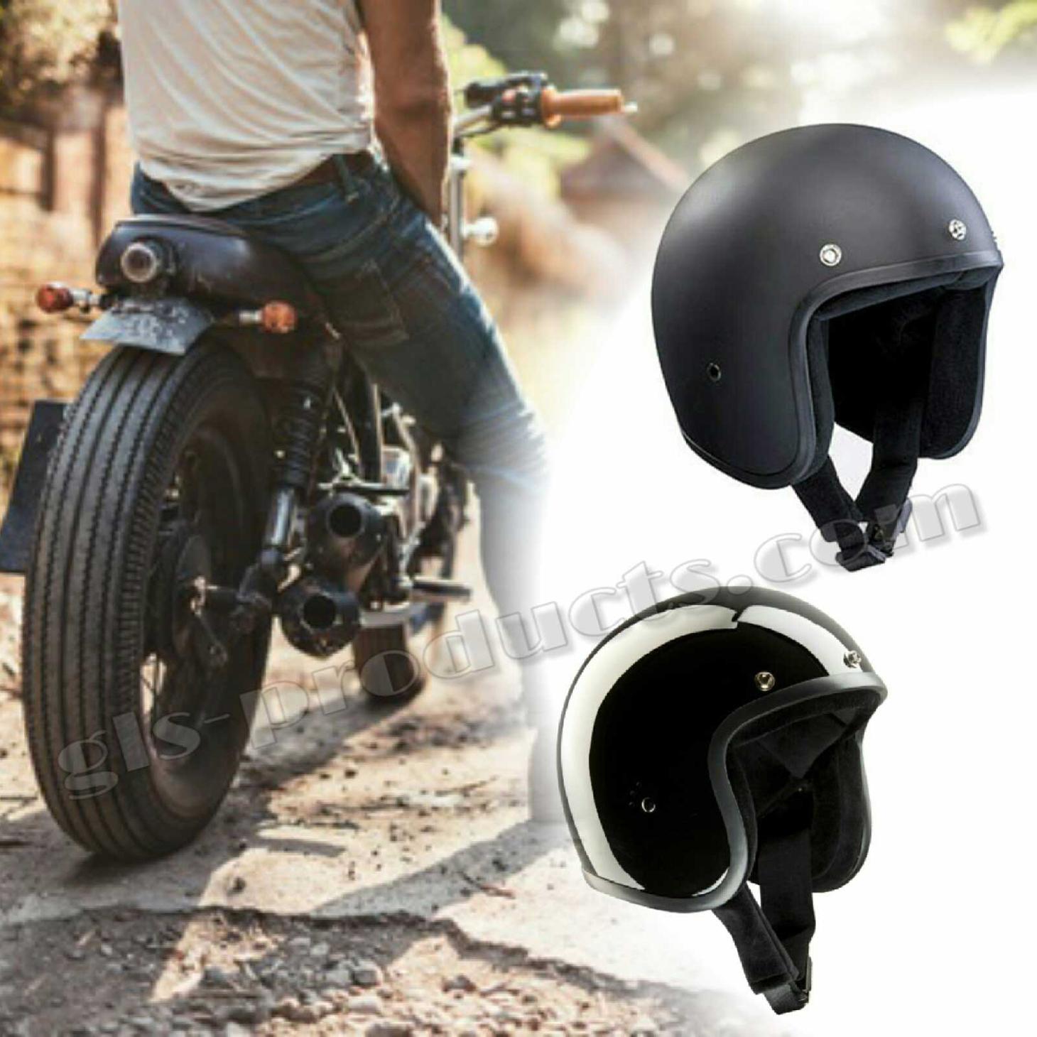 Bandit Jet Helmet - Matte Black Motorcycle Helmet – Picture 3