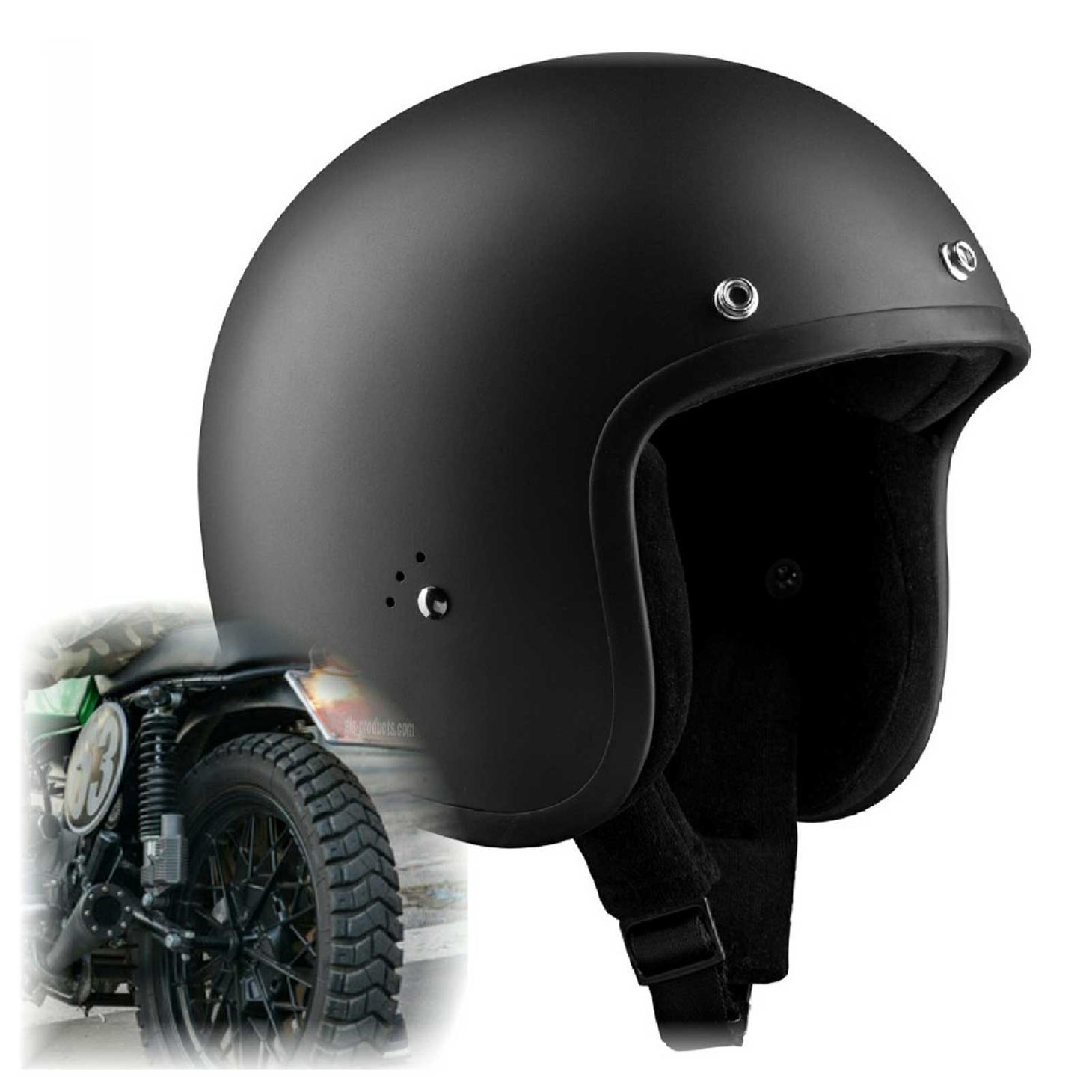 Bandit Jet Helmet - Matte Black Motorcycle Helmet – Picture 1