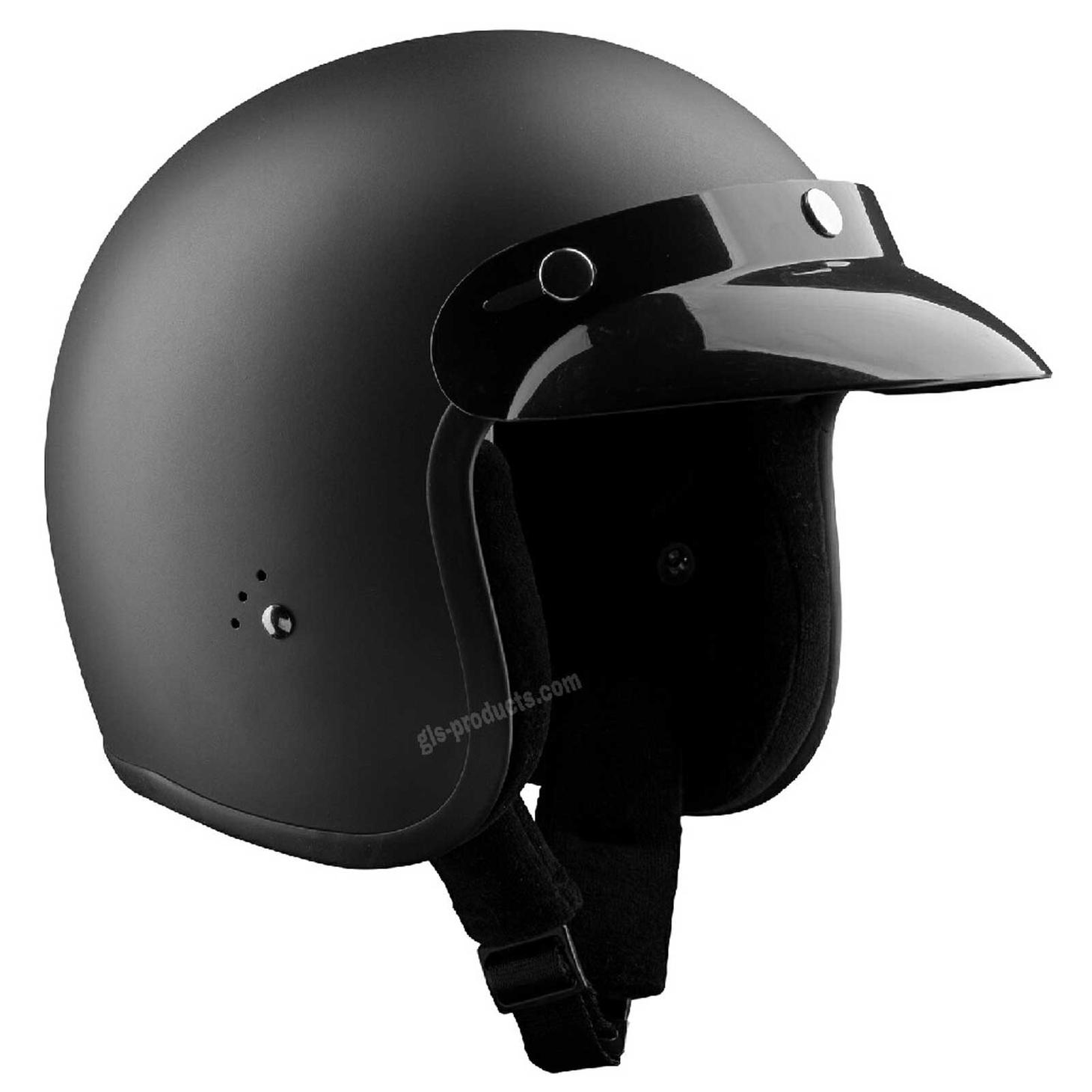 Bandit Jet Helmet - Matte Black Motorcycle Helmet – Picture 4