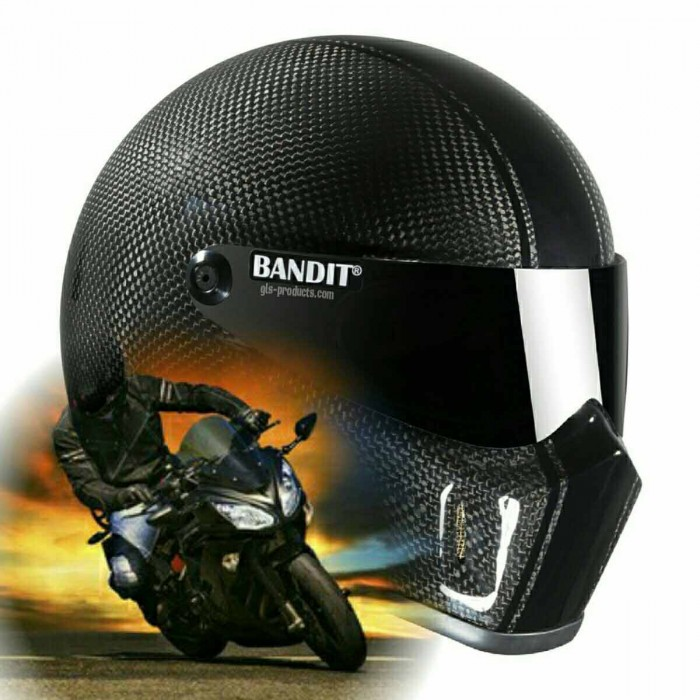 Bandit - Super Street 2 Carbon - New Motorcycle Helmet - for Streetfighter – Picture 9