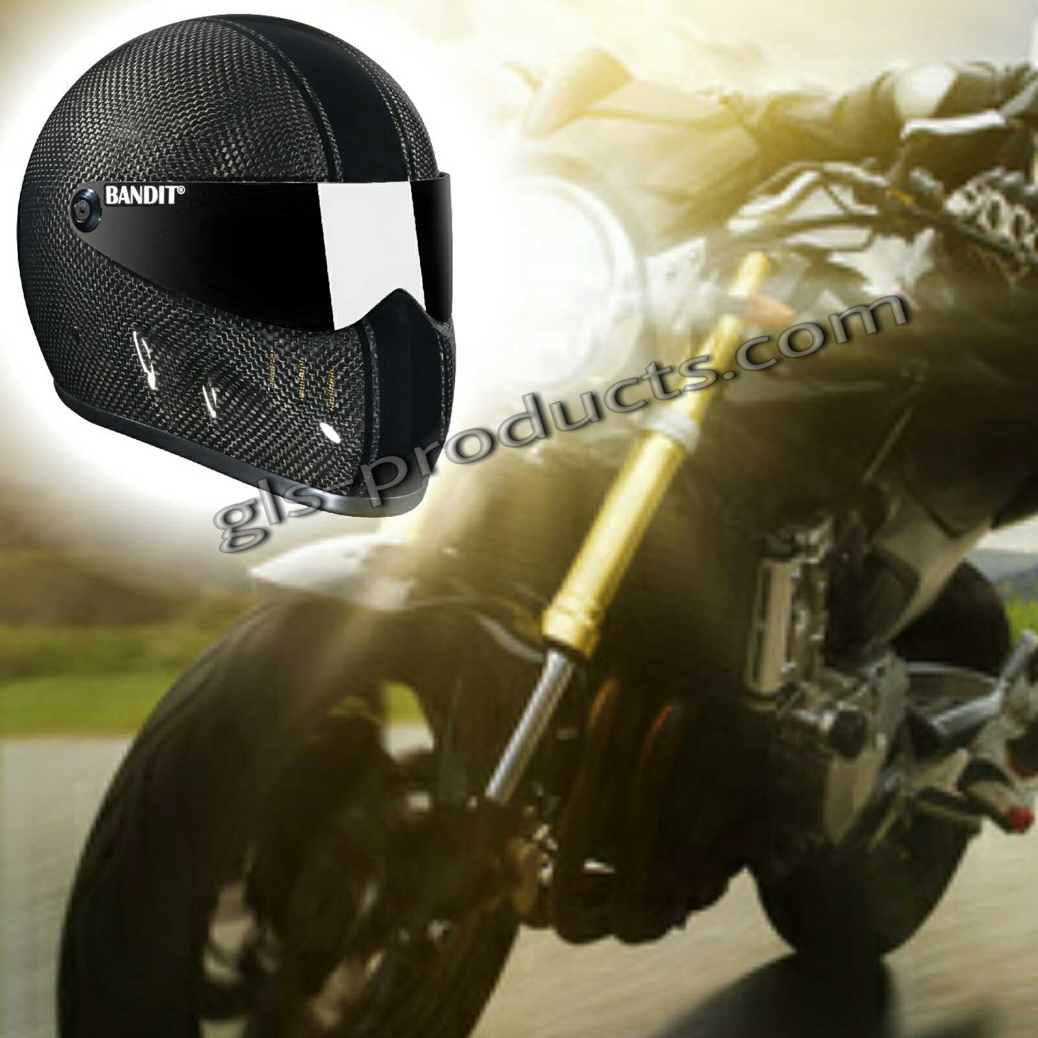 Bandit - XXR Carbon - New Motorcycle Helmet - for Streetfighter, Mad Max – Picture 10
