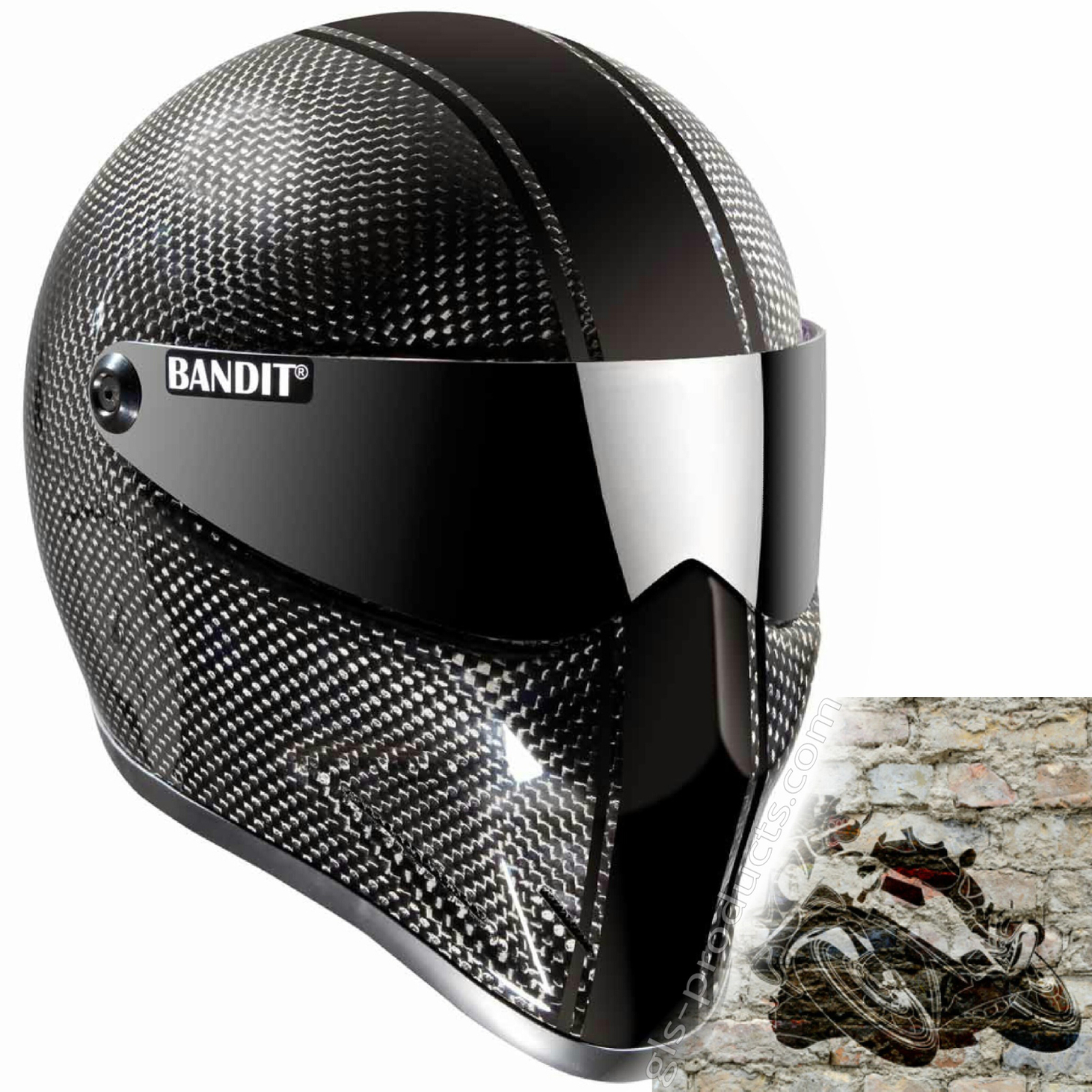 Bandit Crystal Race Carbon for Streetfighter – Picture 2