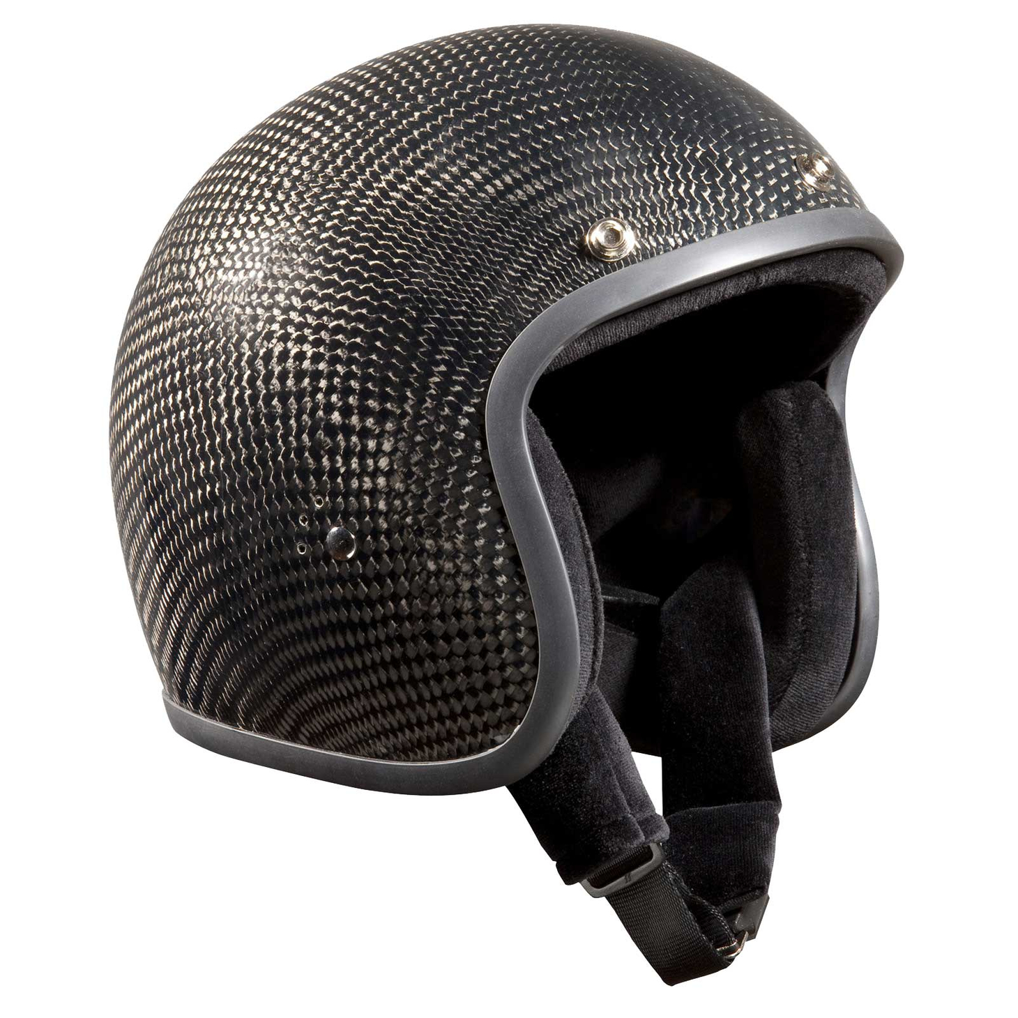 Bandit Genuine Carbon Jet Helmet - Retro Motorcycle Helmet – Picture 2