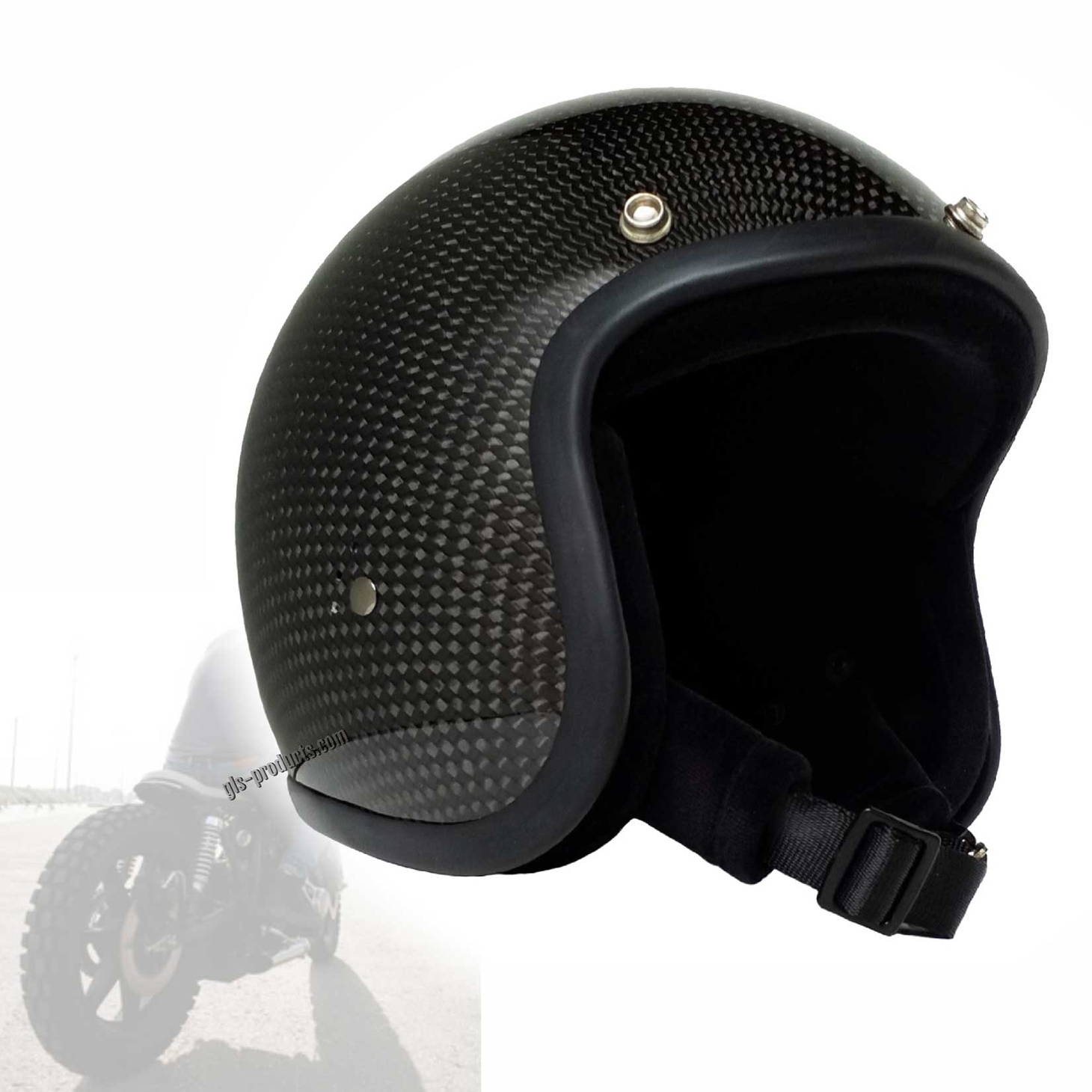 Bandit Genuine Carbon Jet Helmet - Retro Motorcycle Helmet – Picture 1